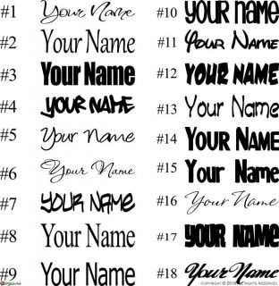 YOUR NAME Vinyl Letters Wall Art Graphics Stickers Decal 916