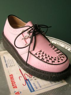 Best Punk Rockabilly Creepers 2 Platform Shoes Pink