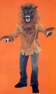 Werewolf Child Halloween Costume Scary Brown Wolf Boy Kids New