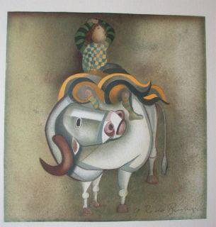 Graciela Rodo Boulanger Lithograph Chllean Listed