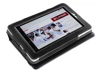 Creative ZiiO 7 Tablet Black Leather Cover Stand Case