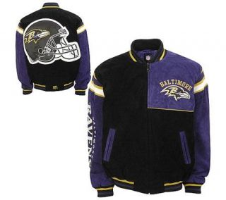 NFL Baltimore Ravens Genuine Suede Leather Jacket —