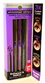 Physician Formula Shimmer Strips Custom Enhancing Eyeliner Trio Brown