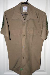 Vietnam Era U s M C Creighton Shirt w Gunnery Sgt Rank