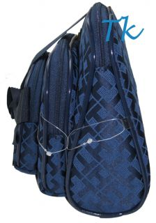 Hilfiger Canvas oilery Cosmeic Make Up Bag Purse Blue Gif