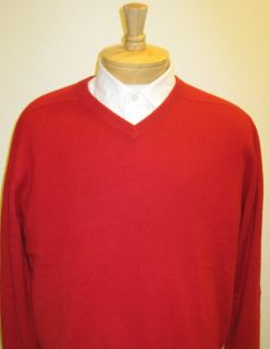 Large Cashmere Red Sweater Daniel Cremieux $225