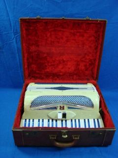 Vintage Crestone Regendoro Accordion with Case Needs Work