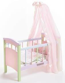 Lee Middleton Wooden Vinyl Baby Doll Crib