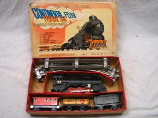 Vintage Battery Powered Continental Flyer Train Toy IOB