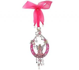 Kirks Folly Fairy Godmother Lucky Horse ShoeOrnament —