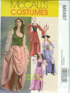Devil Wench Costume 14 16 18 20 Uncut Sewing Pattern 5497 New