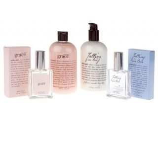 philosophy amazing grace & falling in love 4 piece collection