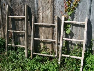 Rustic Antique Wooden Country Wood Ladder for Decorating