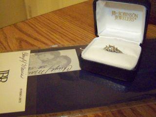 Beautiful JB Robinson Diamond Three Stone Engagement Ring 1 Carat TW