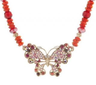Kirks Folly Bella Donna Butterfly Necklace —