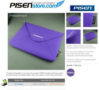 13 3 inch Laptop Notebook Soft Sleeve Cover Case Bag Pouch Purple