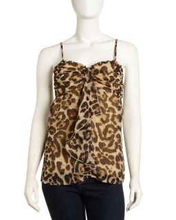 Romeo Juliet Couture Leopard Print Sweetheart Cami