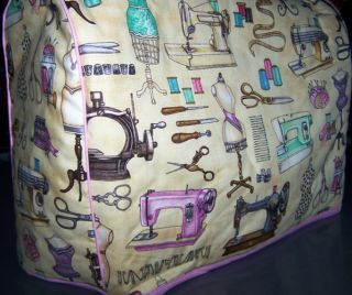 Antique Dress Forms Notions Quilted Fabric Sewing Machine Cover