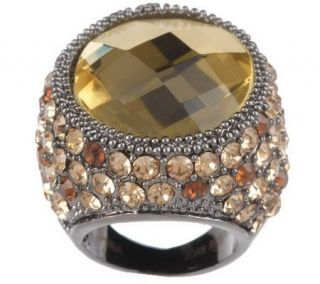 As Is Joan Rivers Celebrity Roast Crystal Cocktail Ring   J266780