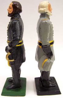 Civil War Generals Lee and Grant Cast Iron Bookends Door Stops