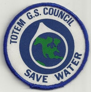 Girl Guide Badge Totem G s Council Save Water