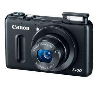Canon PowerShot S100 12MP, 5X Optical Zoom Digital Camera —