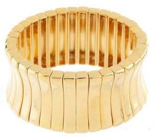 Melania Corset Design High Polished Stretch Bracelet   J158185