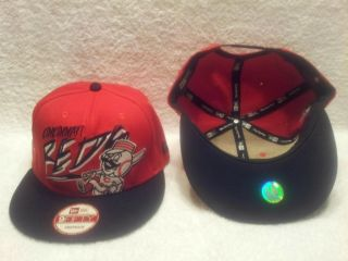 Cincinnati Reds New Era Cap Hat Snapback Red with White Black Letters