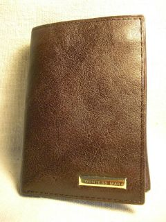 Countess Mara Mens Dark Brown Leather Trifold Wallet