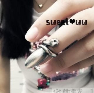 Fashion Punk Cool Finger Nail Snake Design Ring For Girl Lady