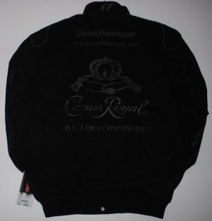 SIZE L NASCAR MATT KENSETH CROWN ROYAL ALL BLACK Cotton Jacket L