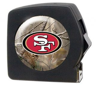 NFL San Francisco 49ers Realtree Camo 25 Ft. Tape Measure —