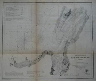 1862 Bache Coast Survey Shipwreck Map Coos Bay Oregon