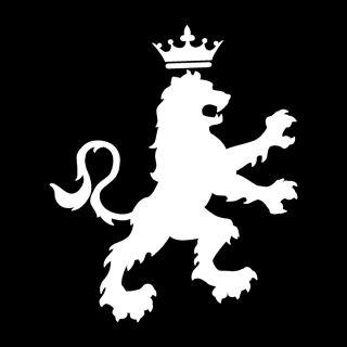 Lion with Crown Tattoo Crest Vinyl Sticker Decal