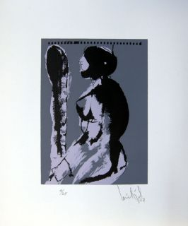 Luis Miguel Valdes 138 Cuban Art Original Print Signed Limited Edition