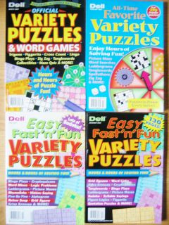 Dell Variety Puzzle Books Logic Sudoku Crossword Word Search Fill in