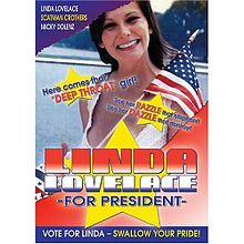 Linda Lovelace for President Movie Handbill 1976 Vintage Scarce to