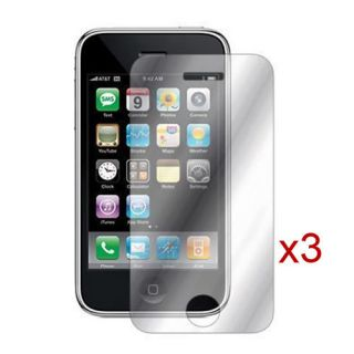 3x mirror lcd crystal clear screen protector cover for apple iphone 4