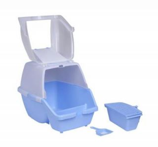 Pawhut Easy Clean Cat Hooded Litter Box with Pan Scoop and Entry Grate