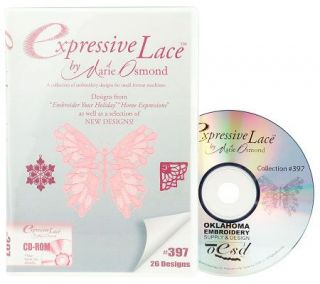 Marie Osmond Expressive Lace Embroidery Software CD —