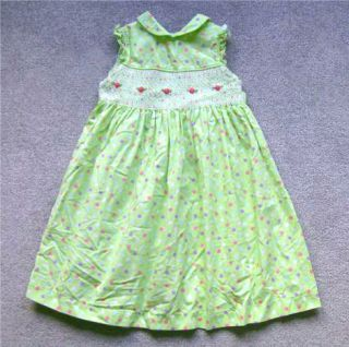 Girls Summer Trendy Cotton Smocked Dress Sundress 4 Laura Ashley