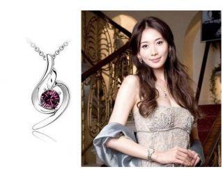 FASHION18K GP Swarovski Crystal Necklace Pendant Options 6colour U