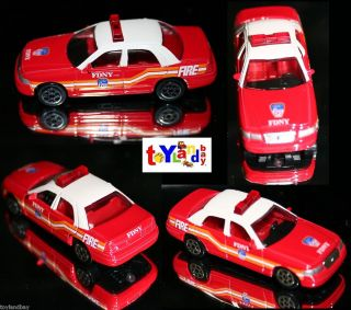 FDNY New York City Fire Chief Car Ford Crown Victoria 1 64 scale