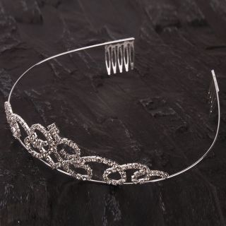 Stylish Rhinestone Crown Headband Fashion Tiara Hair Jewelry New