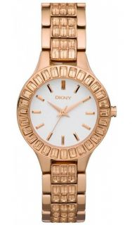 DKNY Ladies Rose Gold Tone Crystal Watch NY8441