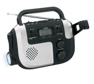 Jensen Portable Self Powered AM/FM/NOAA WeatherBand Radio —
