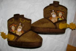 Disney Toy Story Infant Cowboy Boot Slippers Boys Size Toddler 5 6