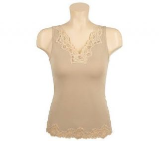 Breezies Curve & Contour By Flexees Shaping Lace Cami w/UltimAir