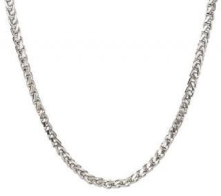 Forza Mens Stainless Steel Bold Wheat Necklace   J300689