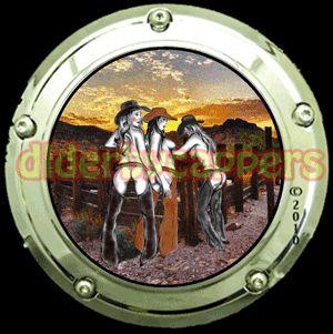Cowgirls Harley Davidson Derby Cover Capper Custom Softtail Sportster